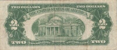 1953 circulated $2.00 Red Seal USA Currency this Note just Turn 65 year old ....