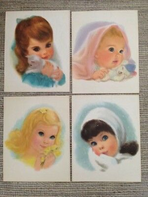 VINTAGE NORTHERN TISSUE GIRLS Prints 11 X 14 PRINTS LOT OF 4