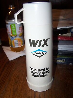 vtg WIX FILTER Dana Aladdin Pint Size Thermos w Cup Best Heavy Duty Protection