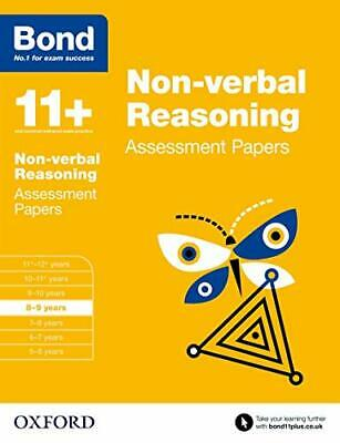Bond 11+: Non-verbal Reasoning Assessment Papers: 8-9 years by Bond 11+ Book The