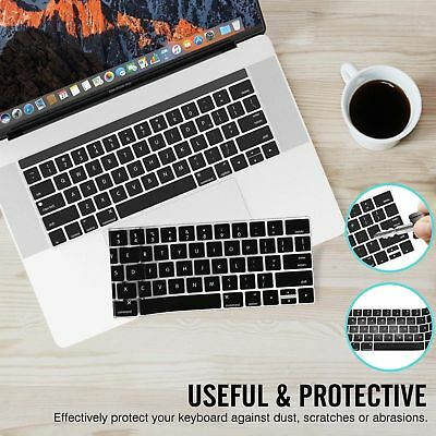 "Washable Silicone Laptop Keyboard Cover Skin for Macbook Pro 13/15"" w/ Touch Bar"