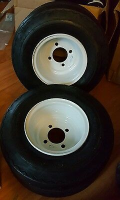 (2) Slasher 18X8.50-8 Golf Cart Tires and Rims