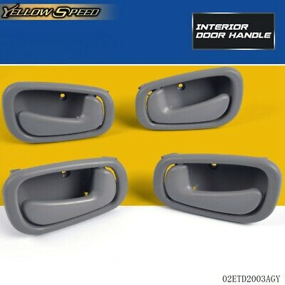 For 98-02 Toyota Corolla  Inside Inner Door Handle Front Rear Left Right Grey