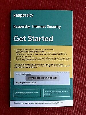 Kaspersky Internet Security 2019, w/Anti-Virus, 3 PC Mac Android iOS, 1 Year
