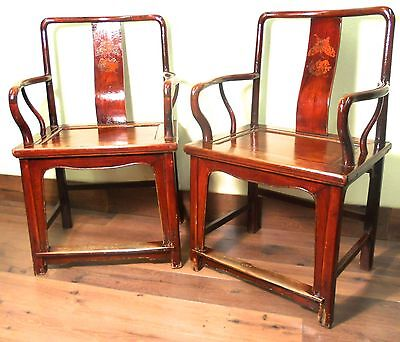 Antique Chinese Ming Arm Chairs (5507), Circa 1800-1849