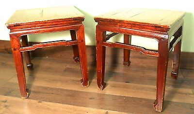 Antique Ming Meditation Bench/End Tables (5320) (Pair), Circa 1800-1849