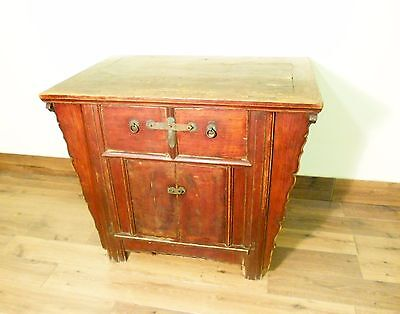 "Antique Chinese Ming ""Butterfly"" Cabinet (5703), Cypress Wood, Circa 1800-1849"
