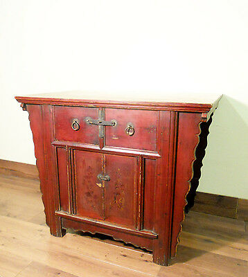 "Antique Chinese ""Butterfly"" Coffer (5651), Zelkova Wood, Circa 1800-1849"
