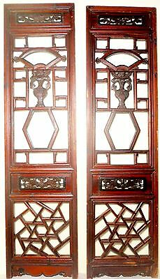 Antique Chinese Screen Panels (2559)(Pair) Cunninghamia Wood, Circa 1800-1849