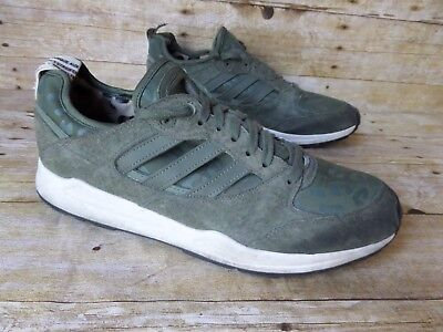 quality design 80aff 2ef7e Adidas Tech Super 2.0 Green Leather Trainers Athletic Shoes Men s 11.5