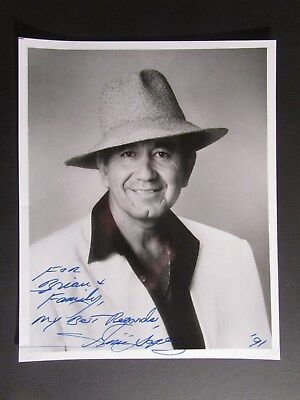 entertainer TRINI LOPEZ Autographed 8X10 Signed Photo with inscription VINTAGE