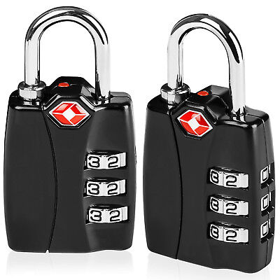 TSA Approved 3 Digit Luggage Locks for Travel Suitcase with Open Alert Indicator