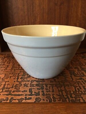 Vintage 1950's Hoffman Mixing Bowl ~ Australian Pottery ~ Blue Grey ~ No. 24