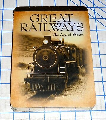 Great Railways The Age of Steam 3 DVD Set Special Edition Madacy Ent 2009 Sealed