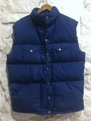 Vintage 1970's THE NORTH FACE Brown Label Puffy Down Vest sz XL