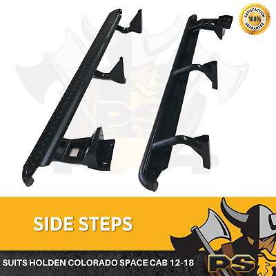 Heavy Duty Side Steps for Holden Colorado RG Space Cab 12-18 Rock Sliders