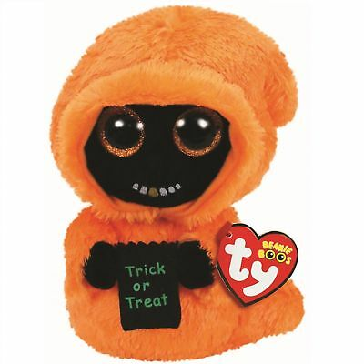 "2018 Halloween TY Beanie Boos 6"" GRINNER the Ghoul Plush w/ MWMT's Ty Heart Tags"