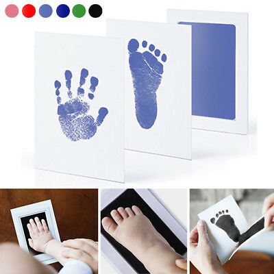 AU Newborn Baby Handprint Footprint Pad Safe Clean Non-Toxic Clean Touch Ink Pad