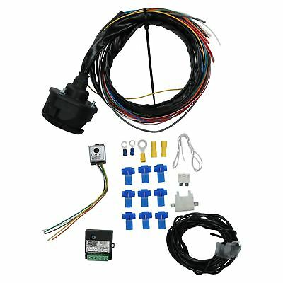 Tow Bar Electrics 13 Pin Socket Trailer Wiring Kit Audible Warning Charge Relay