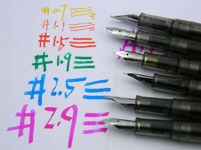 Transparen Duckbill Gothic parallel art flower calligraphy Flat Tip Fountain Pen