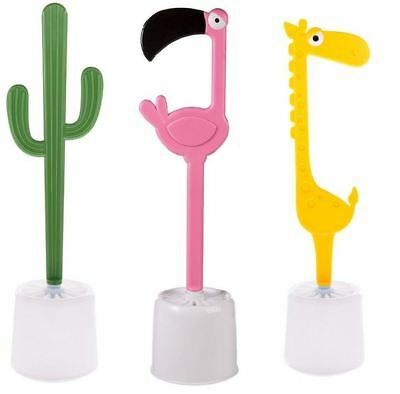 Novelty Toilet Brush Holder Funny Bathroom W/C Flamingo