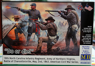 3581 Master Box Civil War Series Do or die 18th N. Carolina Inf. Reg. 1:35