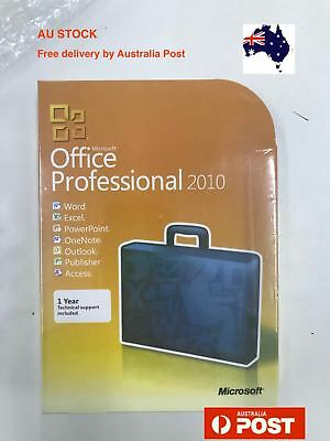 Microsoft Office 2010 Professional DVD + Perpetual Product Key Retail Version