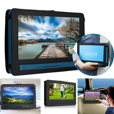 "2in1 10"" in Car Portable DVD Players Headrest 180 Rotation Travel Gaming Black"