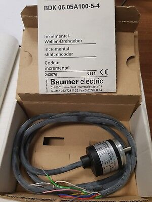 Baumer Incremental Shaft Encoder, 100ppr, comp/TTL,o/p BDK 06.05A100-5-4