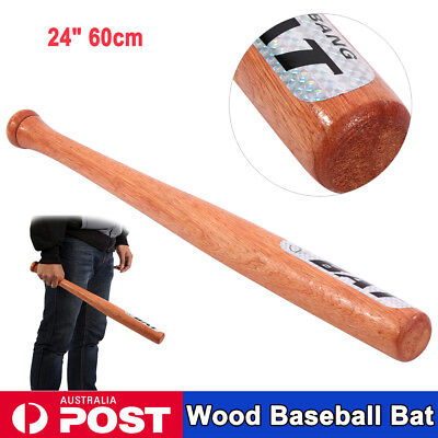 "1PCS 24"" 60cm Wood Baseball Bat Exercise Sports Self-Defense Family Car Safety"
