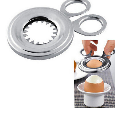 Stainless Steel Boiled Egg Topper Shell Top Cutter Knocker Opener Kitchen Tool