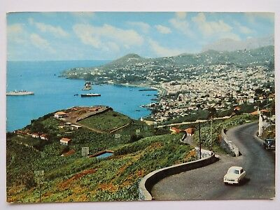 Postcard Madeira. Funchal, View West. Posted 1965
