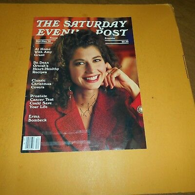 Amy Grant is an American singer, songwriter, musician Hand Signed Magazine Photo
