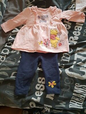 Girls winnie the pooh jeans and top 0-3 months