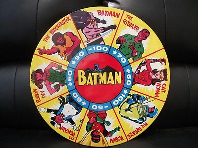 Very Rare Vintage 1966 Mettoy Tin Batman Spin Dart Target Game - Target Only Vgc