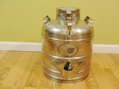 Vintage Chrome Super Chef Chrome 3 Gal Insulated Food/Beverage Water Cooler