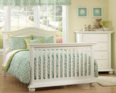Baby Cache Full Size Conversion Kit *BED RAILS* for Heritage Crib- White-3570-WH
