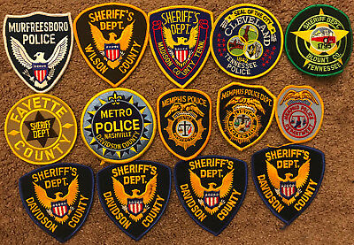 14 Tennessee TN Police Sheriff Patches - Patch Lot Collection