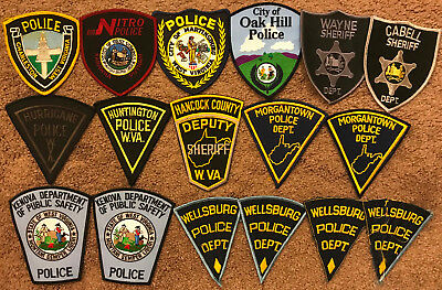 17 West Virginia WV Police Sheriff Patches - Patch Lot Collection