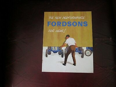 Fordson New performance Tractors Brochure Rare Great Condition ,