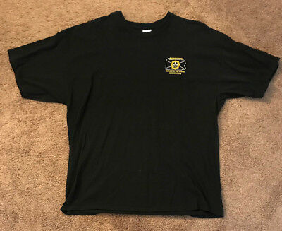 Pennsylvania PA Police Narcotic Officers Size 2X Black DRE Narc Drug TShirt