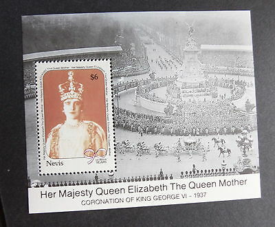 Nevis 1990 Queen Mother's 90th Birthday MS Miniature sheet UM MNH unmounted mint