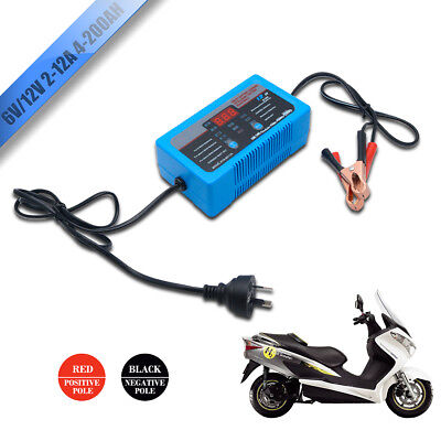 NEW 6V 12V Car Battery Charger 2A 8A 12A Boat ATV 4WD Caravan Motorcycle Trickle