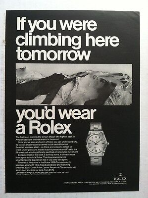 1969 Rolex Oyster Chronometer 1005 Print Advertising - If You Were .. Watch Ad