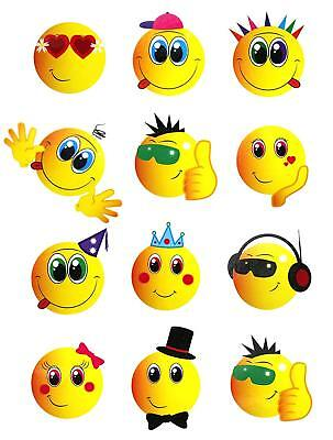 Childrends   Mini Smiley Face Temporary Tattoos Boys Girls Party Bag & Filler