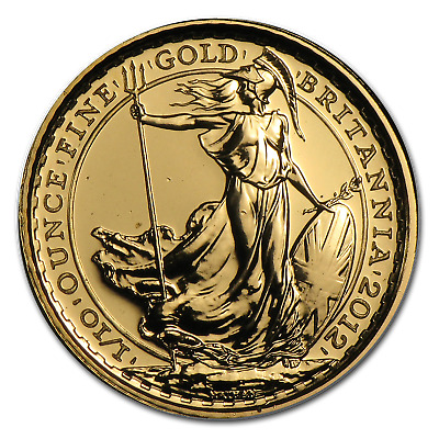 2012 Great Britain 1/10 oz Gold Britannia BU (25th Anniv) - SKU #75050