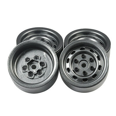 "4x Full Metal Beadlock 1.9"" Felgen Wheel Rims für TRX4 D90 SCX10 1/10 RC Cars#54"