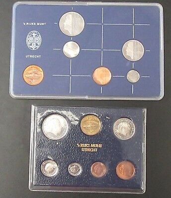 Netherlands 1980 & 1982 Coin Sets. Proof & UNC