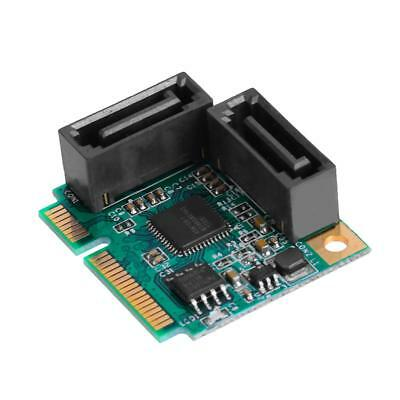 Mini PCI-Express to 2 Ports SATA 3.0 Single Chip Expansion Adapter Card XD#3