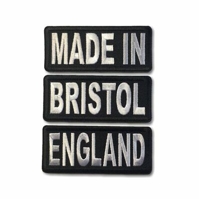 """Embroidered 3/"""" Bristol Sew or Iron on Patch Biker Patch"""